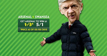 Arsenal 5/1 to beat Swansea - Paddy Power Offer
