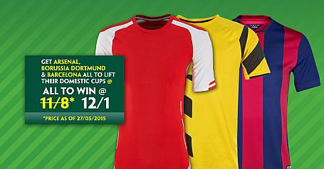 Arsenal, Dortmund & Barcelona All Lift Their Domestic Cups @ 12/1