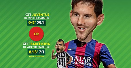 Champions League Final: Juventus @ 25/1 or Barcelona @ 7/1