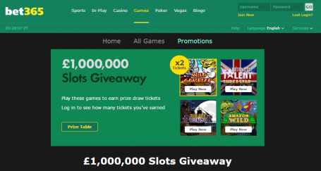 £1,000,000 Slots Giveaway - Bet365 Casino