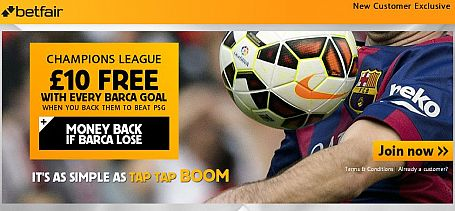 £10 Free Every Time Barcelona Score
