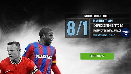 Man Utd 8/1 to beat Crystal Palace - Boylesports Offer