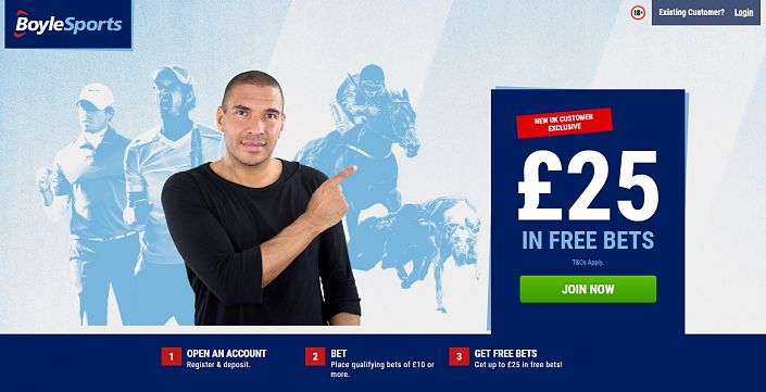 Boylesports Sign Up Offer - £25 In Free Bets