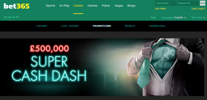 £500,000 Super Cash Dash - Bet365 Casino