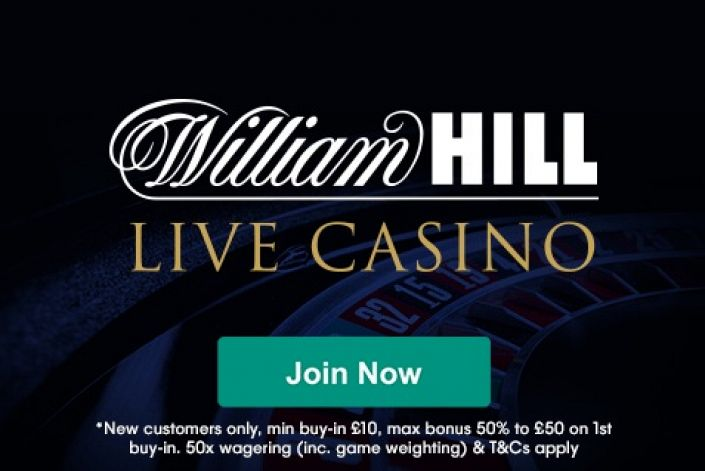 William Hill Live Casino - £50 Welcome Bonus with Betting Bias